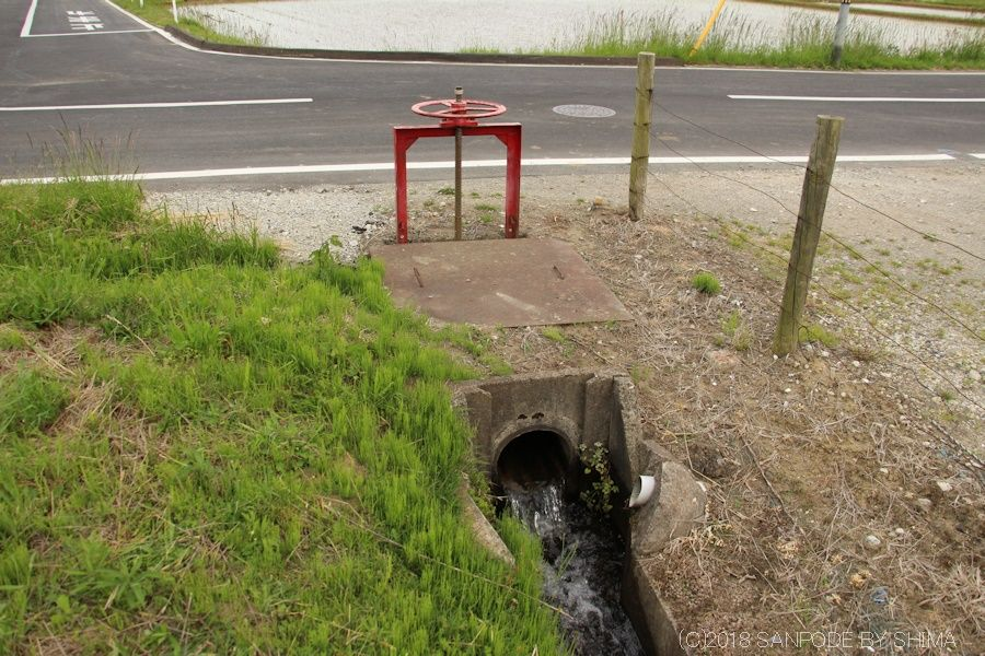 用水路に設置されている水門