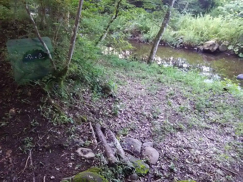 散策路から河原へ