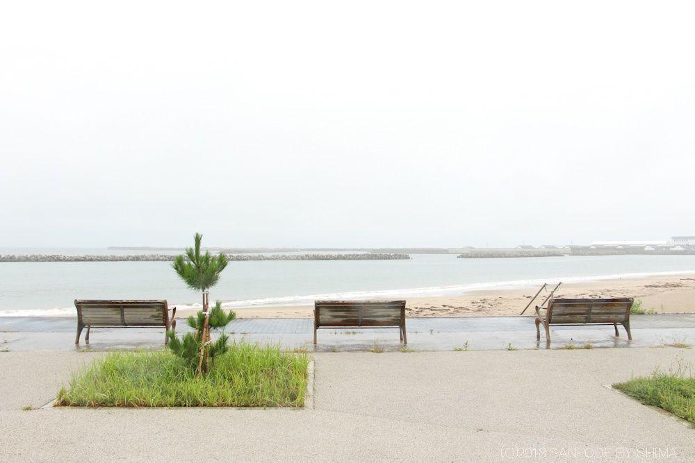 笠岩公園のベンチ