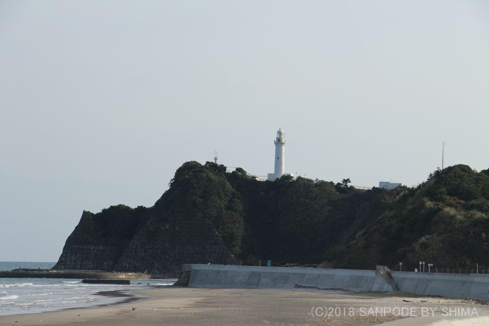 薄曽の断崖煮立つ灯台